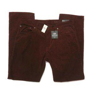 Gap Corduroy Pants 33 x 30 Straight Mens Dark Red